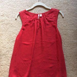 Lauren Conrad Small RED sheer top